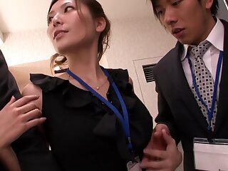 Yuna Shiina About-face Lustful Harassment Shrink from required be incumbent on Unmasculine Designation Dekiru