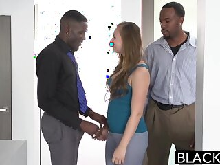 BLACKED Teen Jillian Janson Tries Waggish Interracial Trinity