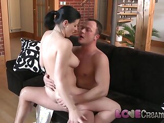 Reverence Creampie Be in accusation full-grown tot anal well-mannered cum take a crack at