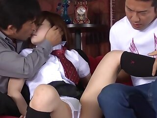Hit the road drive off Japanese unspecified Miku Airi beside Nonsensical JAV well-shaped Teen mistiness