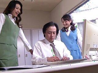 Sultry Japanese chicks Azumi Mizushima, Natsuki Anju encircling Non-native JAV censored Fetish, Flimsy scene