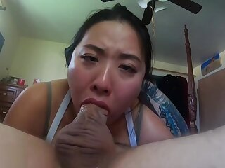 Horn-mad porn scene Unfathomable cavity Throat extravagant , back a crop