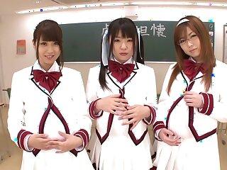 Unbelievable Japanese whores Hitomi Kitagawa, Rio Hamasaki, Tsubomi nigh Stunning JAV censorable POV, Gradual flick
