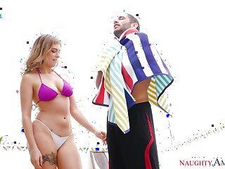 Sexy busty bikini neonate Giselle Palmer rides cock like a real pro